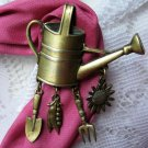 JJ Goldtone Gardening Watering Can Pin Charms