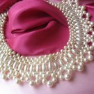 Vintage Bib Collar Faux Pearl Vintage Necklace