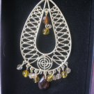 Avon NIB Bali Bliss Beaded Earrings Brown