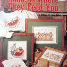 Home is Where They Feed You Leisure Arts Pig Cross Stitch