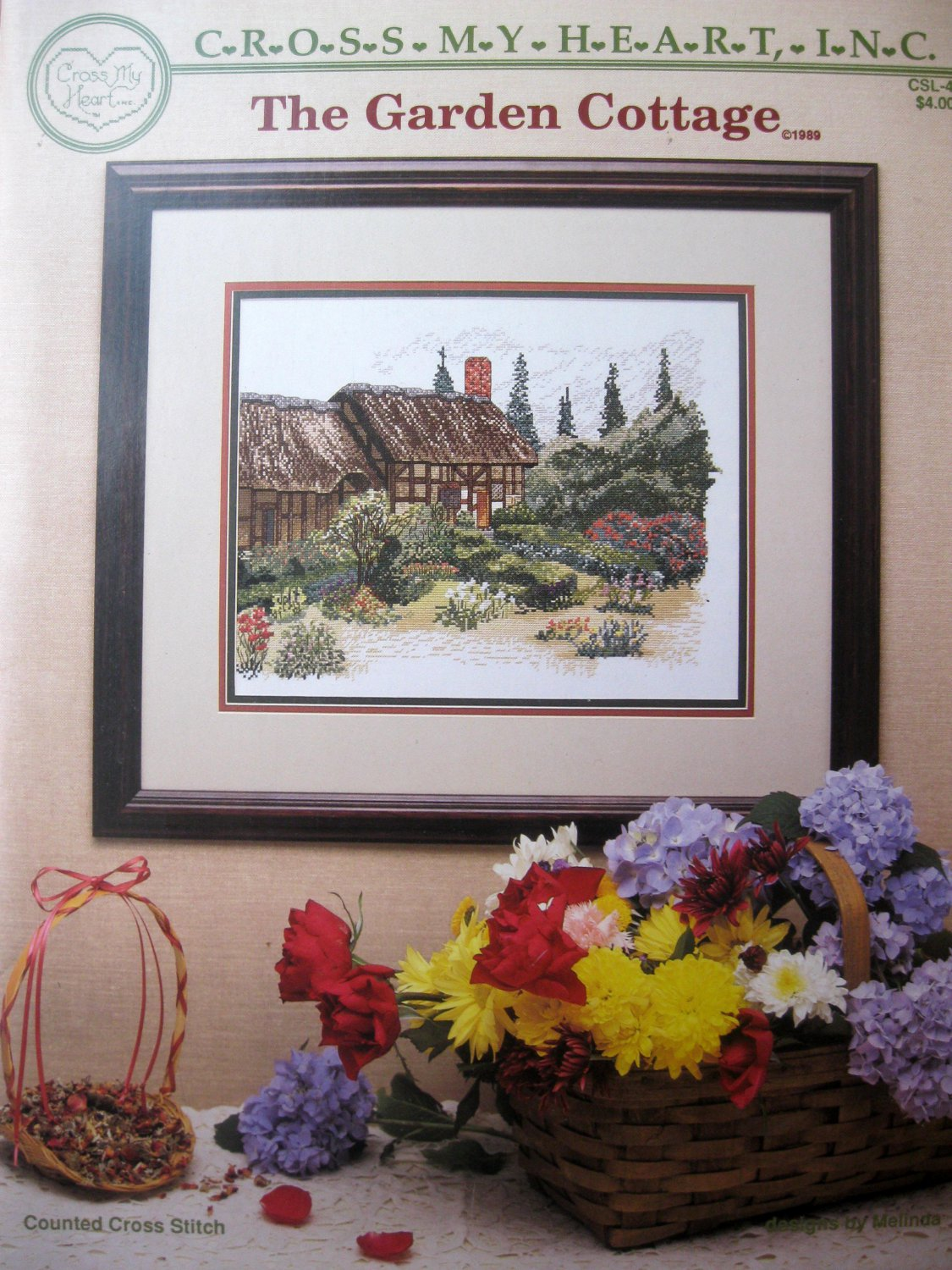 The Garden Cottage Cross Stitch Pattern
