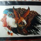 The Plainsman cross stitch chart Indian Eagle Buffalo