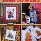 A Year of Sunflowers Leisure Arts Cross Stitch Rueger