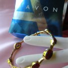 Avon Bejeweled Stackable Bangle,bracelet,avon,berry,goldtone,jewelry,