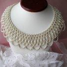 Vintage Beautiful Faux Pearl Bib Necklace