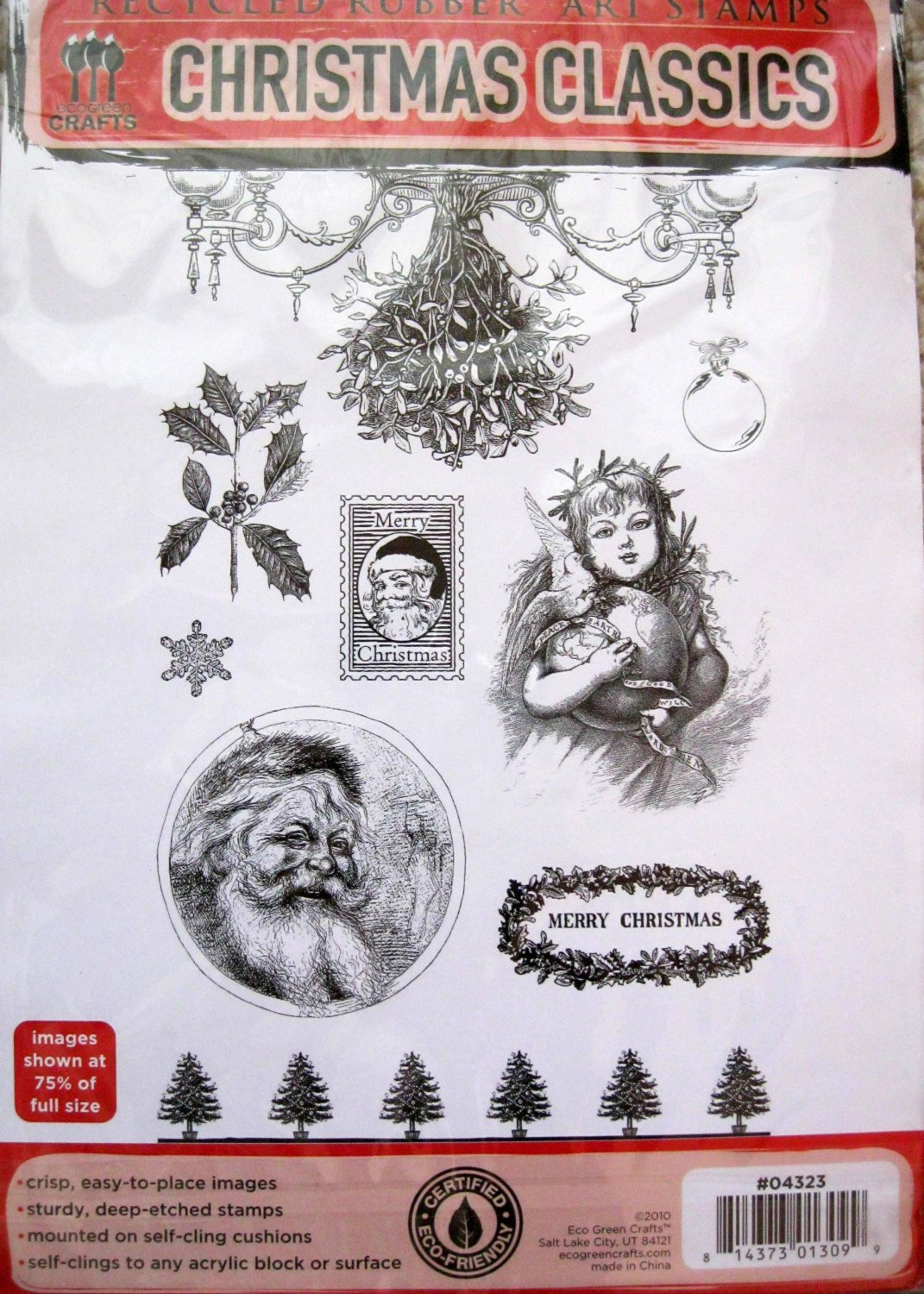 Eco Green Rubber Stamps Christmas Classics