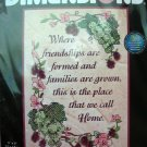 Dimensions Stamped Cross Stitch Kit Our Home sampler home saying family