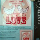 Love Birds Wedding Record Kit Crewel Embroidery Dimensions