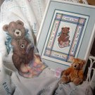 Bedtime is Hug Time Cross Stitch Teddy Bear by Judi Maddigan