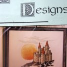 Camelot Designs Castle Skylights Sunset Cross Stitch