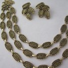 Sarah Coventry Desert flowers earring necklace set