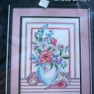 Golden Bee Counted Cross Stitch Kit Shells and Floral Vase