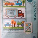 Dimensions Counted Cross Stitch Kit Baby Happi Transport Birth Record