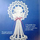 Lacy Crochet Doily Angel by Mary Buse Melick RARE
