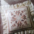 Candlewick Plus Jacobean Floral Pillow Embroidery Kit Vintage
