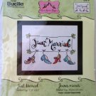 JUST MARRIED counted cross stitch kit Bucilla Shoes - ANNE HIGGINS