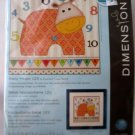 Dimensions Crafts Counted Cross Stitch Kit, Baby Hippo 123