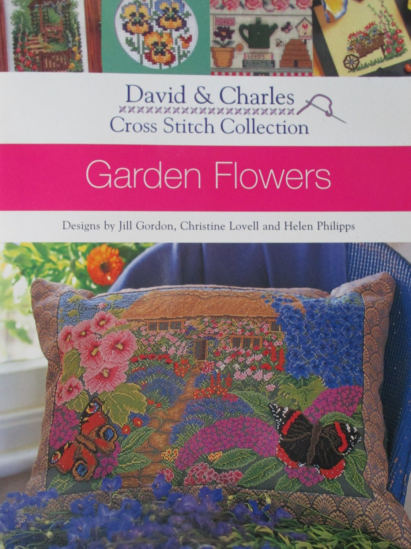 Garden Flowers Cross-Stitch pattern leaflet David & Charles Gordon