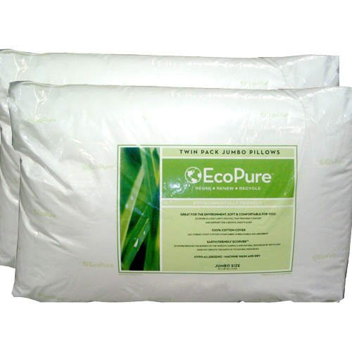 Eco Pure Twin Pack Jumbo Pillows