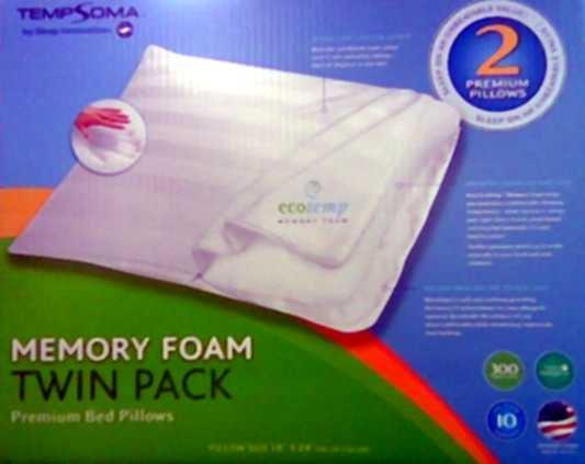 "Sleep Innovations Memory Foam Pillows (18"" x 24""  Twin Pk. )"