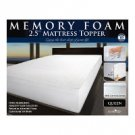 "Memory Foam Mattress Topper (2.5"") - QUEEN"