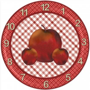 APPLE TEACHER CLOCK -- GREAT TEACHER APPRECIATION GIFT!