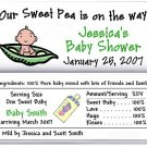 25 PERSONALIZED BABY SHOWER CANDY WRAPPER FAVORS