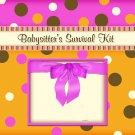 PERSONALIZED BABYSITTER SURVIVAL KIT - Fab & Funky colors!