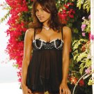 Black & White Babydoll Chiffon (Size XL) G-String Also