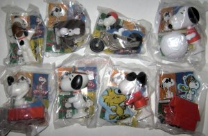 Burger King SNOOPY very hard to find complete set of 8