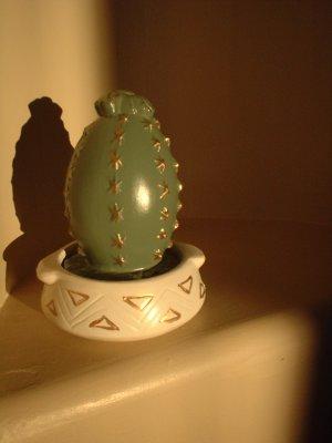 SALE =  2 pc Southwest Western Pottery Cactus & Pot