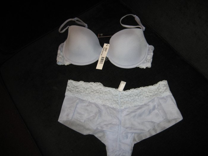 Cosabella powder blue foreverlow rider hot pants and bra sets
