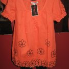 Orange Baby Doll Top