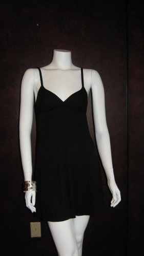 Cosabella Black soft cotton lounge dress