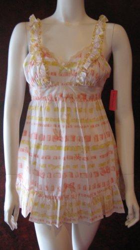 Betsey Johnson multi color cotton babydoll lounge dress