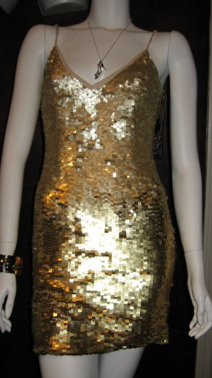 Karen Miller Gold Sequence Dress