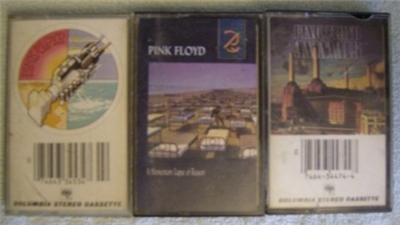 Pink Floyd 3 Cassettes, Animals, Lapse-Reason, Wish You