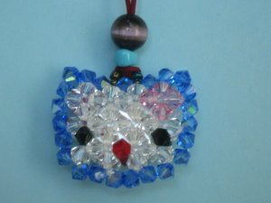 Swarovski Crystal Hello Kitty Cell Phone Charm - CPCB001