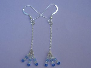 Swarovski Crystal Silver Earrings - SEB001