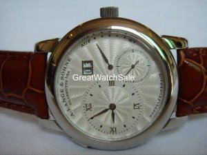 Stainless Steel Silver Dial Leather band - Men (LS017M)