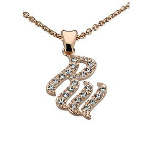 Rose Gold Plated CZ Necklace