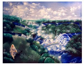 Meet Jesus in the secret place 5: Walking with God in the secret place. 14 x18 framed art print