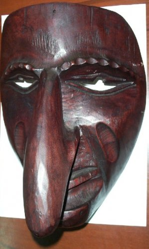 Hand Made Wood Mask