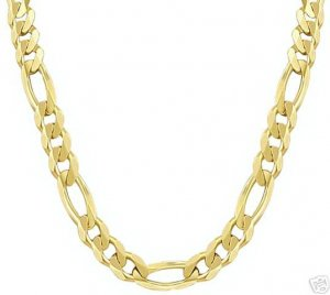14k SOLID Gold Figaro Chain 4.70mm