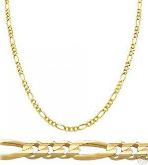 14k SOLID Golid Figaro Chain 2.25mm