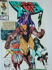 #1 X-MEN HEROES FOR HOPE Comic Book by Marvel Volune 1 1985