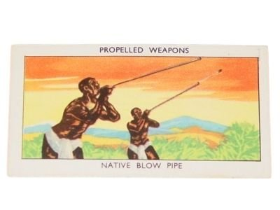 MILLS PROPELLED WEAPONS NATIVE BLOW PIPE TOBACCO CARD