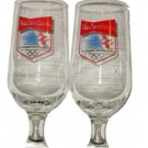 2 VINTAGE BUDWEISER 1984 OLYMPICS GLASSES GLASS SET