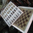 Brown and Skin Marble Chess Set