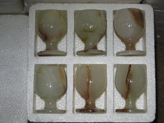 Marble Wine Glasses